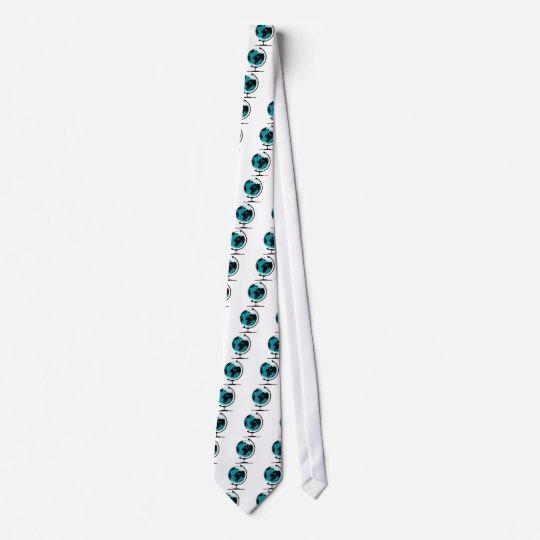 Globo montado no giro de giro gravata
