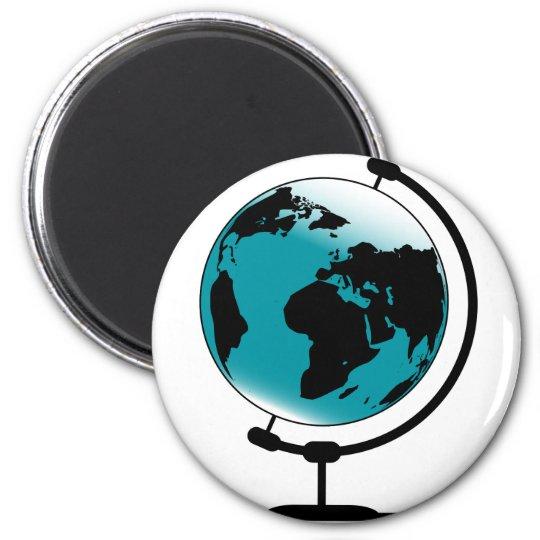 Globo montado no giro de giro ímã redondo 5.08cm