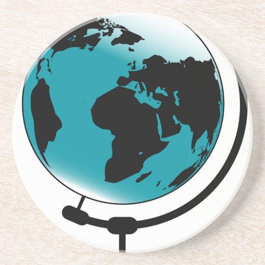 Globo montado no giro de giro porta copos de arenito