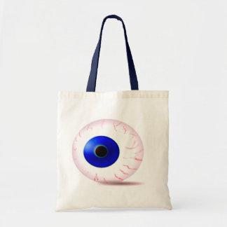 Globo ocular azul bolsa de lona