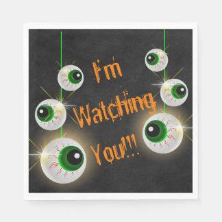 Globo ocular eu estou olhando-o guardanapo do Dia