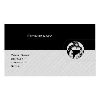 Globo preto & cinzento cartão de visita