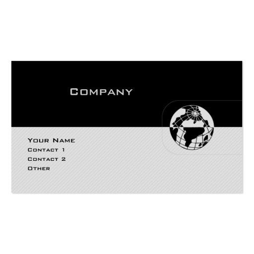 Globo preto & cinzento cartões de visita