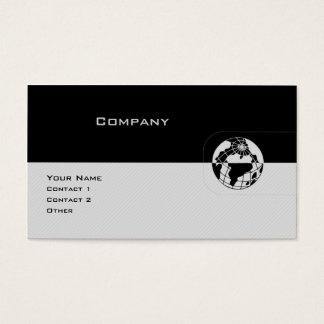 Globo preto & cinzento cartão de visitas