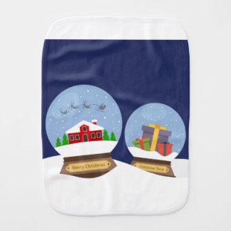 Globos da neve do Natal e presente de Papai Noel Paninho De Boca