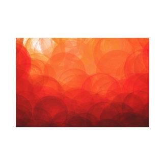 Globos do por do sol - impressão das canvas