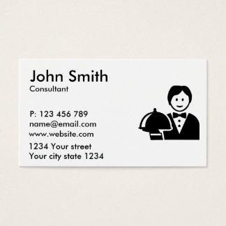 Gloche do servidor cartão de visitas