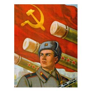 Glória à artilharia soviética cartão postal