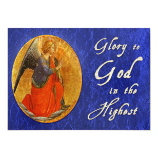 Glória ao deus no Natal religioso o mais alto Convite 12.7 X 17.78cm