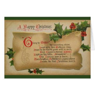 Glória do Victorian ao cartão do Natal do deus