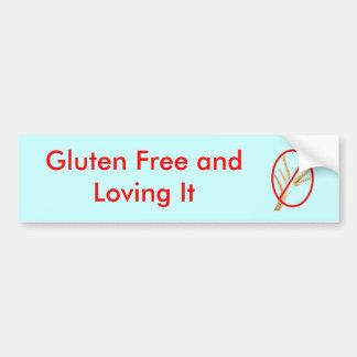 glúten-livre-trigo, sem glúten e amando o adesivo para carro