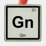 GN - Símbolo da mesa periódica da química da gim Enfeites Para Arvore De Natal