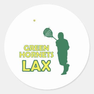 Goalie verde dos zangões claro adesivos em formato redondos