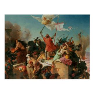 Godfrey de Caldo, cruzado francês Cartão Postal