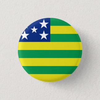 Goiás, botão brasileiro da bandeira do estado bóton redondo 2.54cm