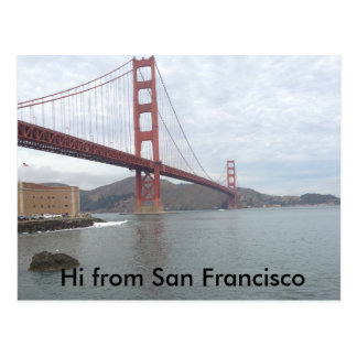 Golden gate bridge, cartão de San Francisco