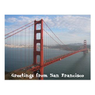 Golden gate bridge cartão postal
