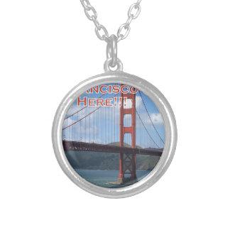 Golden gate bridge San Francisco Califórnia EUA Colar Banhado A Prata