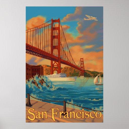Golden gate bridge - San Francisco, poster de CA
