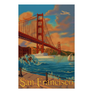Golden gate bridge - San Francisco, poster de CA Pôster