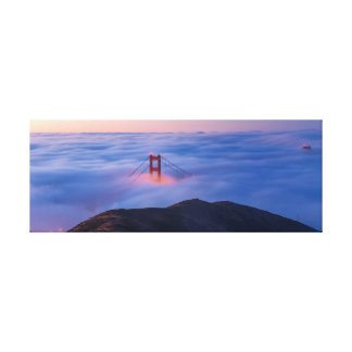 Golden Gate na névoa Impressão Em Canvas