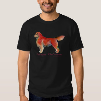 Golden retriever em cor viva camiseta