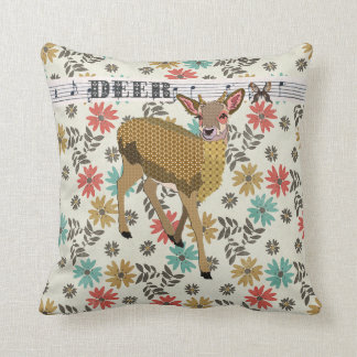 Golden Rose Fawn Floral Mojo Pillow
