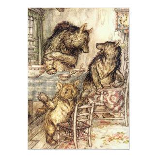 Goldilocks e os três convites dos ursos