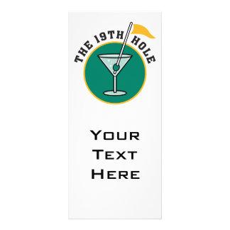 golf o 19o humor do tempo da bebida do furo panfletos informativos personalizados