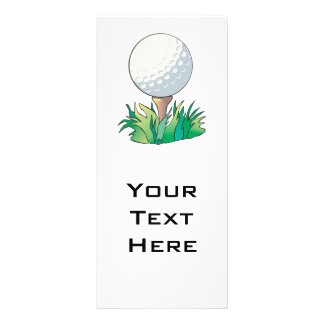 golfball que senta-se no T de golfe Planfeto Informativo Colorido