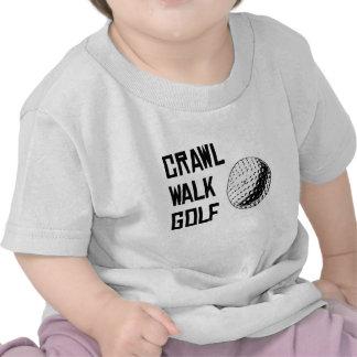 Golfe da caminhada do rastejamento camisetas
