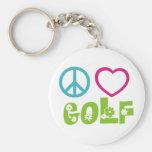 Golfe do amor da paz chaveiro