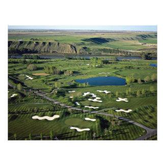 Golfe e clube do Cottonwood, ao sudeste do Cal Modelo De Panfletos