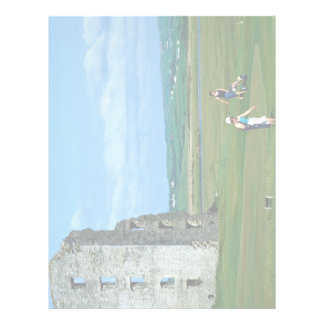 Golfe em Lahinch, condado Clare, Ireland em Europa Modelo De Papel De Carta