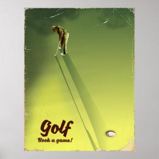 """Golfe """"livro poster vintage de um jogo"""""""