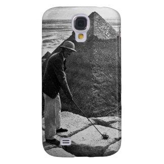Golfe no vintage da pirâmide preto e branco capas samsung galaxy s4