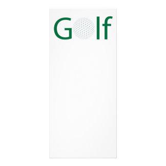 Golfe 10.16 X 22.86cm Panfleto