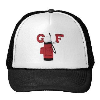 Golfe vermelho do saco de golfe boné