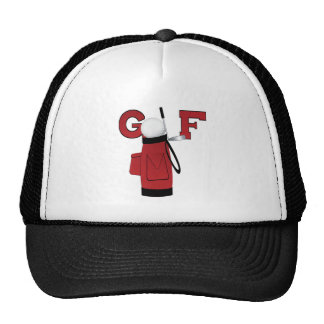 Golfe vermelho do saco de golfe bone