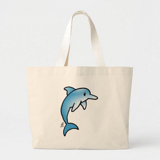 Golfinho adorável bolsa de lona
