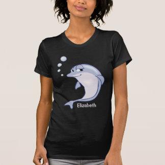 Golfinho azul bonito a personalizar camiseta