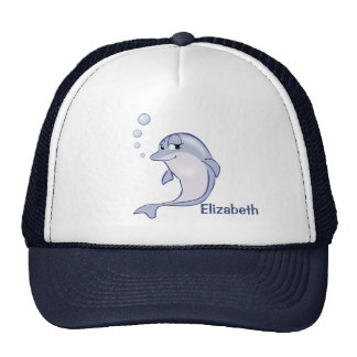 Golfinho azul bonito a personalizar boné