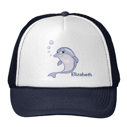 Golfinho azul bonito a personalizar bone