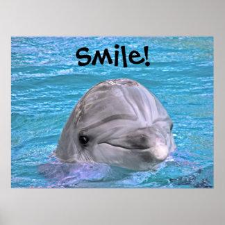 Golfinho de sorriso - sorriso posteres