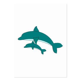 Golfinho e bebê cartão de visita grande