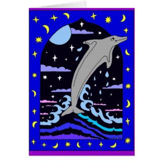 """Golfinho """"pulo para cartão das estrelas"""""""