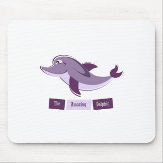 Golfinho roxo mouse pad