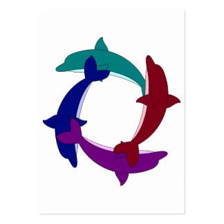Golfinhos da natação modelos cartão de visita