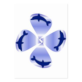 Golfinhos de florescência modelos cartoes de visita