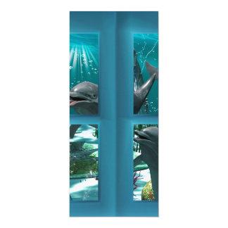 Golfinhos engraçados convite 10.16 x 23.49cm